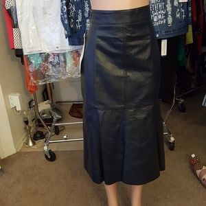 Deerskin Quality Leathers Genuine Leather Skirt